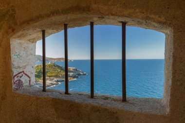 View from a watchtower in the citadel at Calvi, Corsica