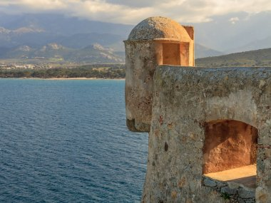A lookout tower in the citadel at Calvi, Corsica