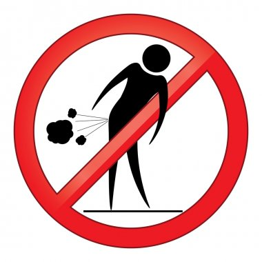 Forbid farting people sign