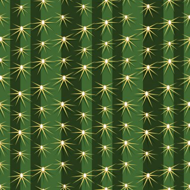 Cactus plants texture seamless pattern background