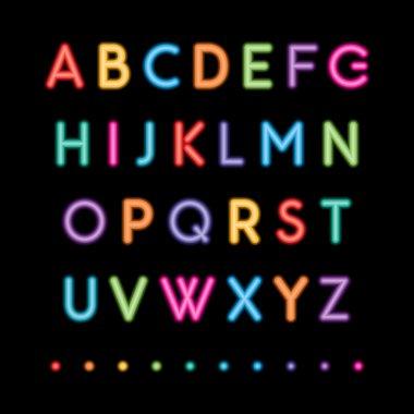 neon capital alphabets
