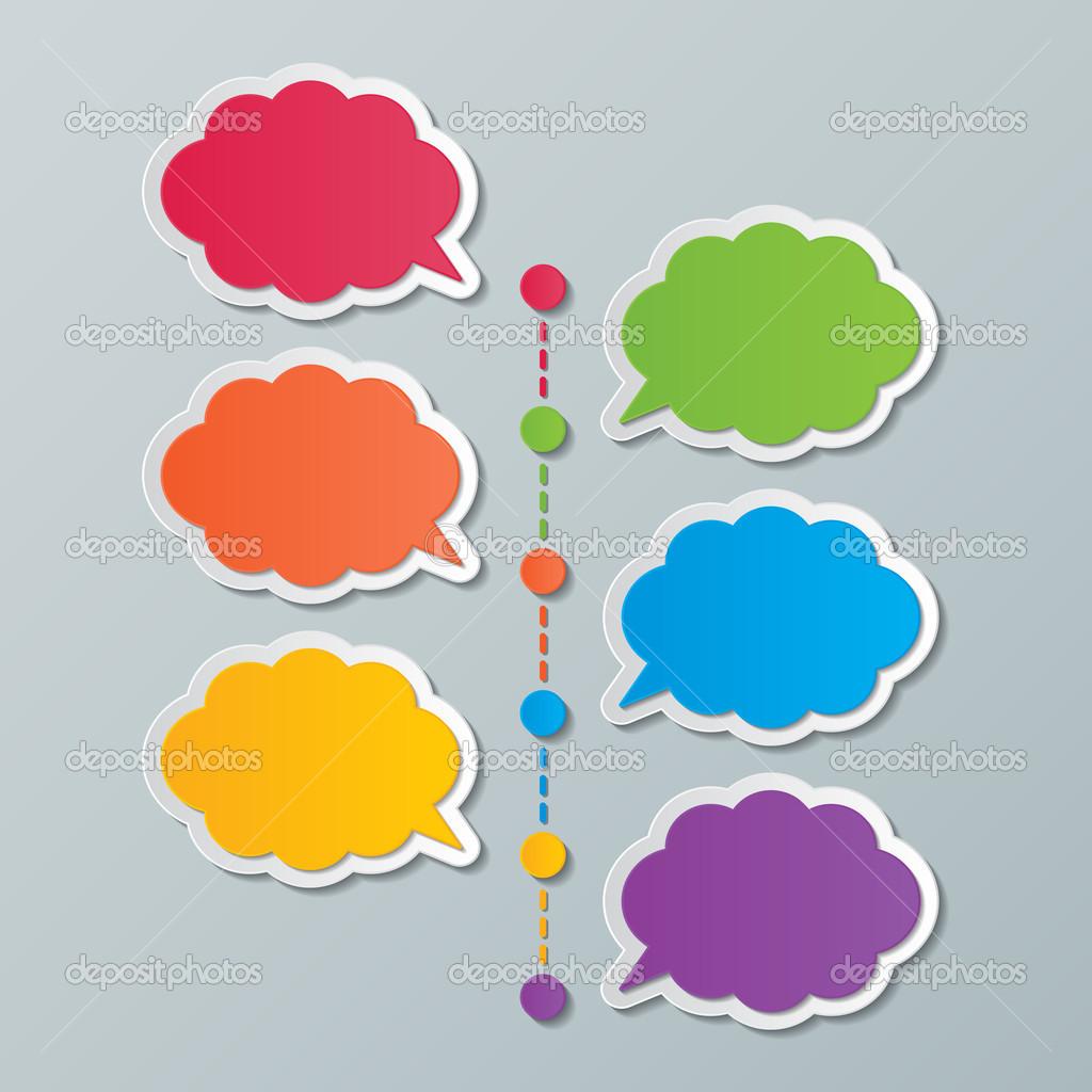plantilla de línea de tiempo nube infografía — Vector de stock ...