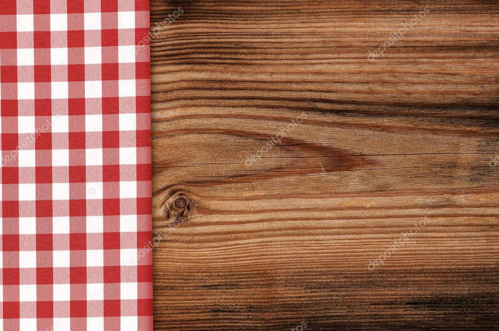 Tablecloth On Wooden Table Background U2014 Stock Photo #40213651