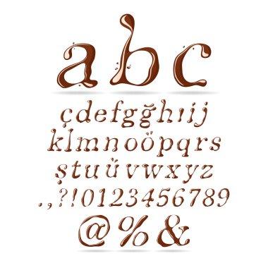 Chocolate Alphabet Lower Case Italic