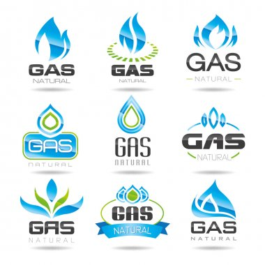 Natural gas can be used in areas such as the design of ready-made icons. stock vector