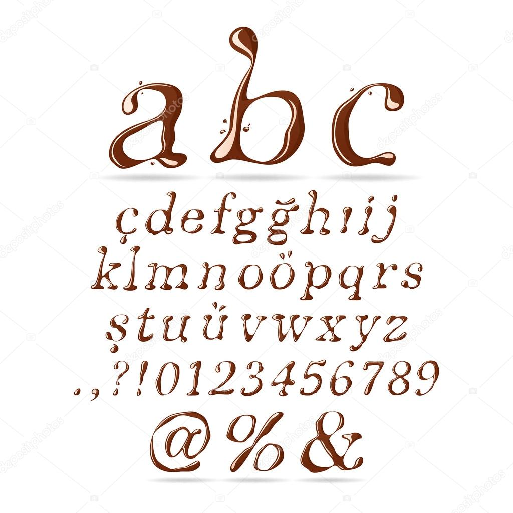 Chocolate Alphabet Lower Case Italic