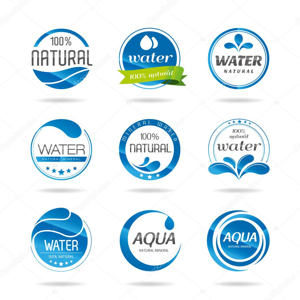 Water design elements. Water icon