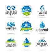 Fotografia Elementi di disegno di acqua. Icona dellacqua