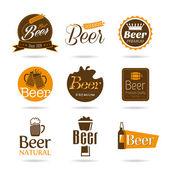 Fényképek sör ikon készlet