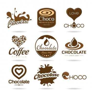 Chocolate and coffee icon design - sticker