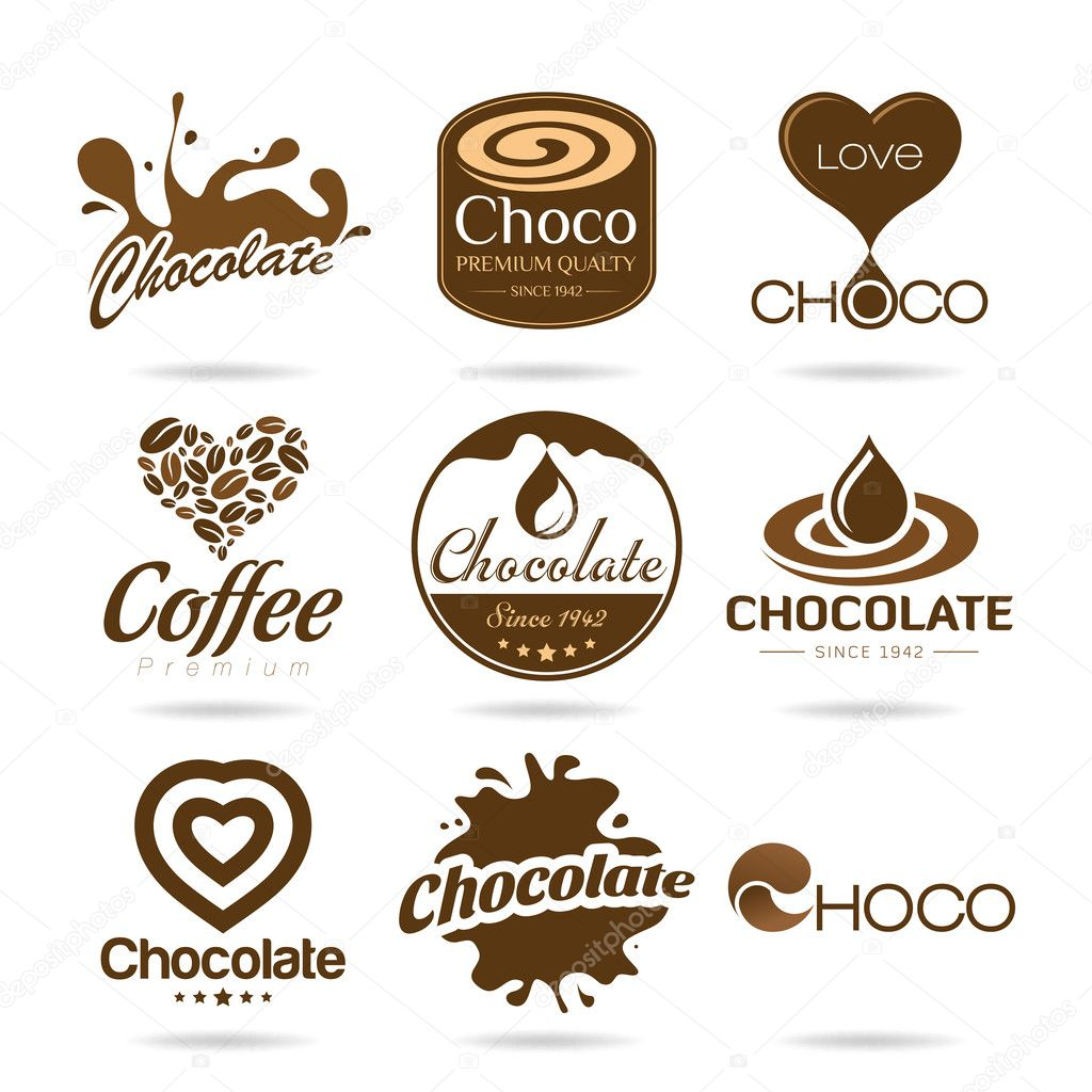 Chocolate and coffee icon design - sticker
