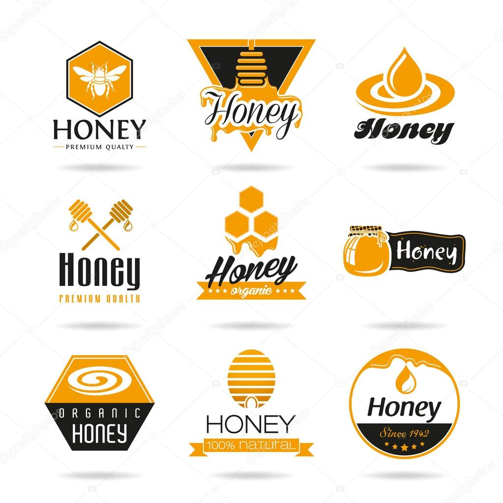 Honey icon set