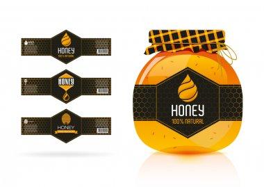 Honey banner - sticker design