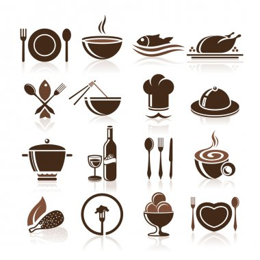 Cooking and kitchen icon set