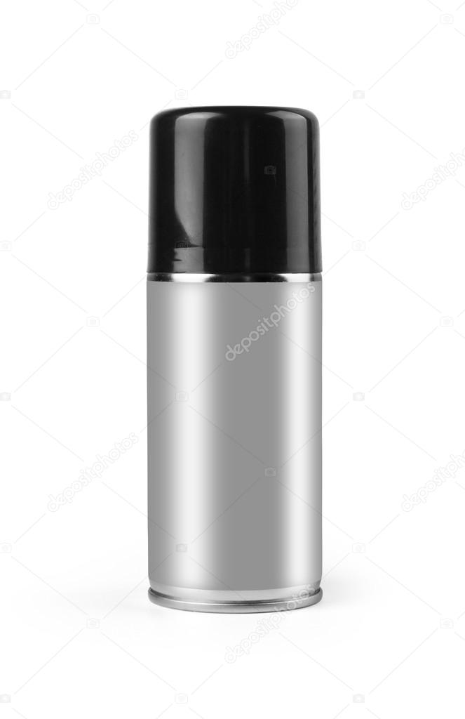 Blank aluminium spray with clipping path.