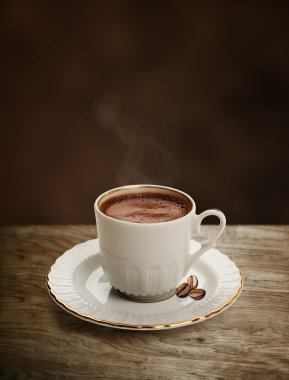 Cup of Turkish coffee with clipping path