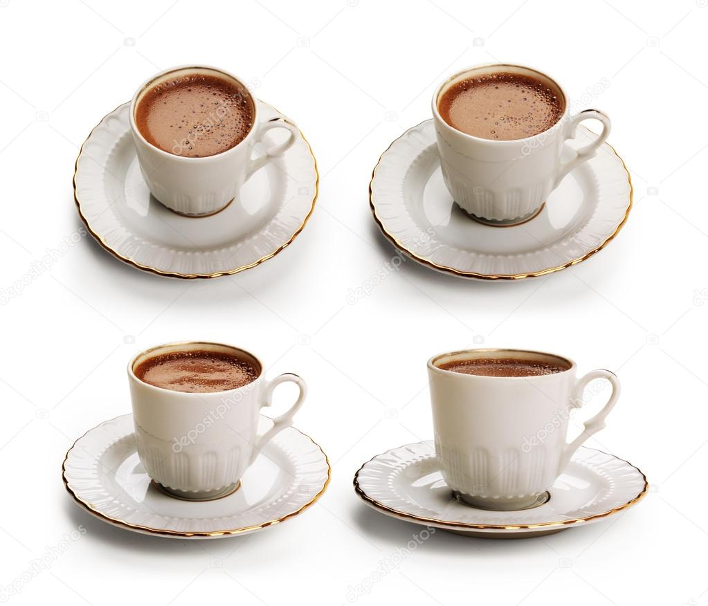 Turkish coffee set with clipping path