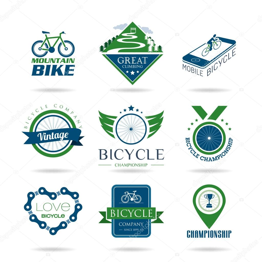 Bicycle icon set - 2