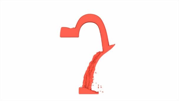 Soru Işareti Sıvı Kırmızı Boya Stok Video Fabioleonardi 40040067