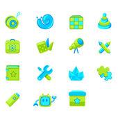 az ikonok a webes felület vagy a gyermekek online áruház termékek