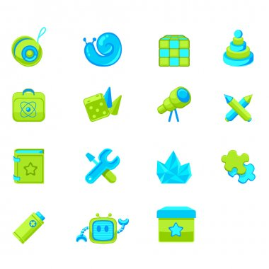Set of icons for web interface or online store children's products