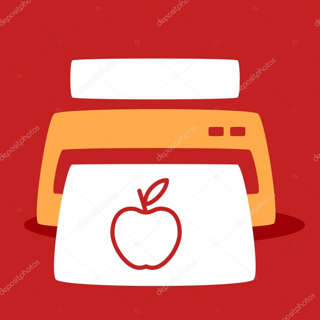 print out images apple stock vector wowomnom 41660117