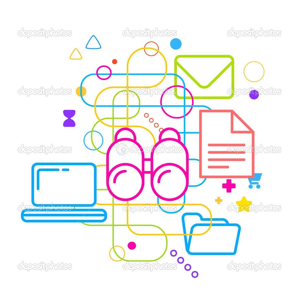 Symbols Of Internet Search Stock Vector Wowomnom 45017109