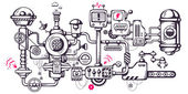 Industrieller Hintergrund des Betriebsmechanismus