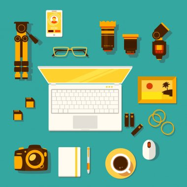 Workplace of photographer