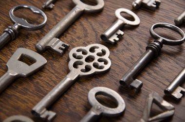 A set of old keys