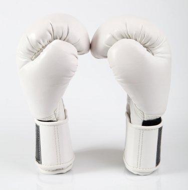 White boxing gloves