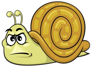 Cartoon brown snail
