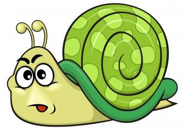 Cartoon green snail