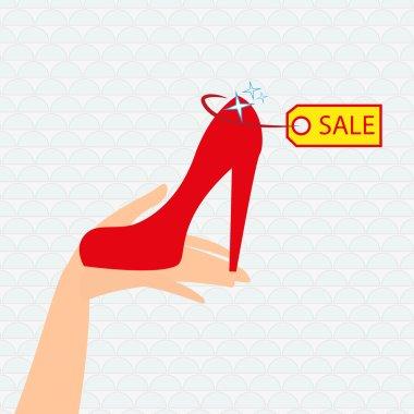 Red shoe presentation for sale