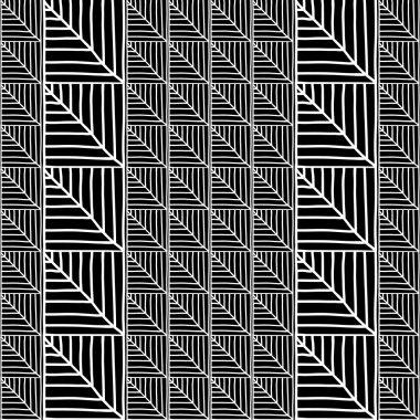Monochrome African Ornamental Pattern. Seamless vector pattern.