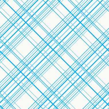 Plaid Fabric on a white background. Seamless vector pattern.