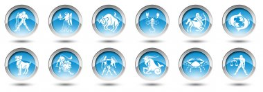 Buttons with zodiac signs