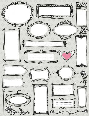 Set of special hand draw labels and banners , vector clip art vector