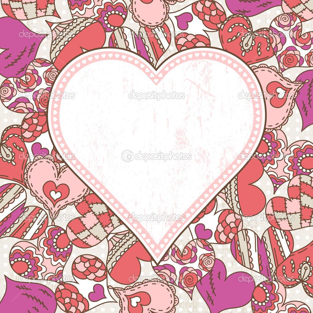 Fondo de San Valentín con corazones de color — Archivo Imágenes ...