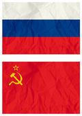 Falg russo e vecchia bandiera URSS