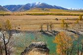 Fotografia fiume huia, kurayskai steppa e nord huyskiy spina dorsale