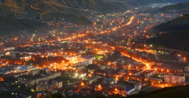 The city of Gorno-altaisk, the view from the Mountain Tugai.