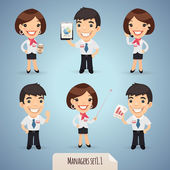 Fotografie Managers Cartoon Characters Set1.1