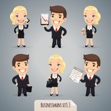 Businessmans Cartoon Characters Set1.1