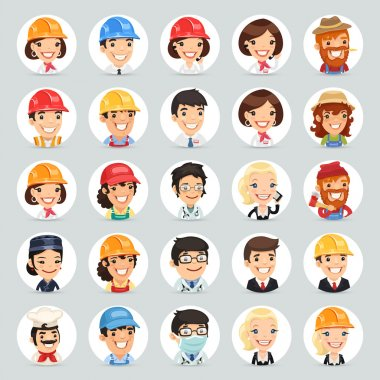 Professions Vector Characters Icons Set1.2