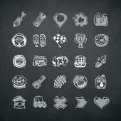 Fényképek ikonok-készlet szimbólumok autó táblára