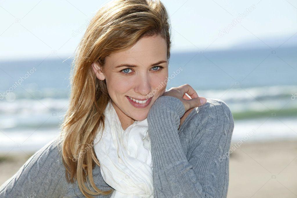 Woman smiling beach