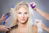 Fotografia cura dei capelli donna