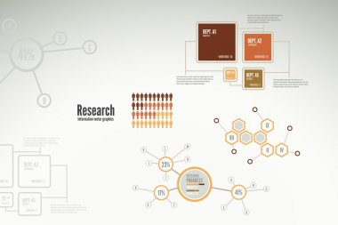 Research infographics for business with charts and diagrams