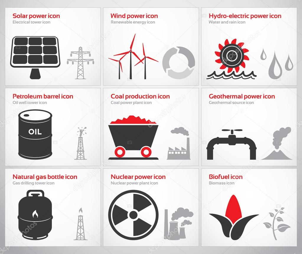 Energy symbols and icons stock vector gdas 40501257 energy symbols and icons stock vector biocorpaavc